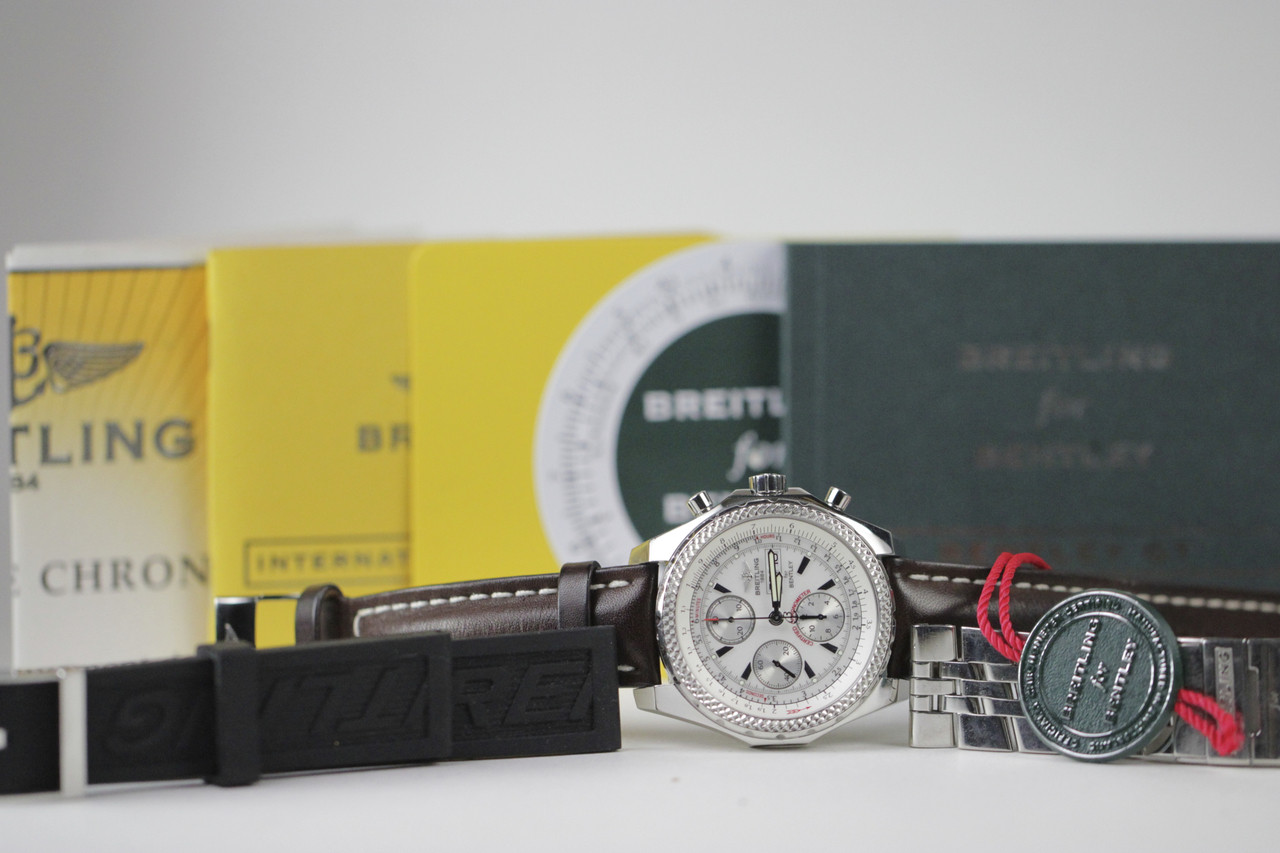 Complete Papers - For sale pre-owned Breitling Watch - Breitling for Bentley GT A13362 available online www.Legendoftime.com and in store Chicago Watch Center