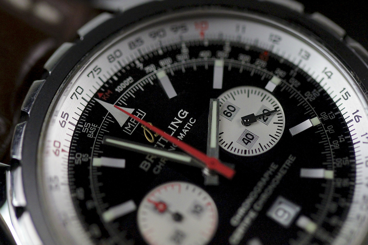 Dial Close-up - Breitling Watch - Chrono-Matic Chronograph A41360