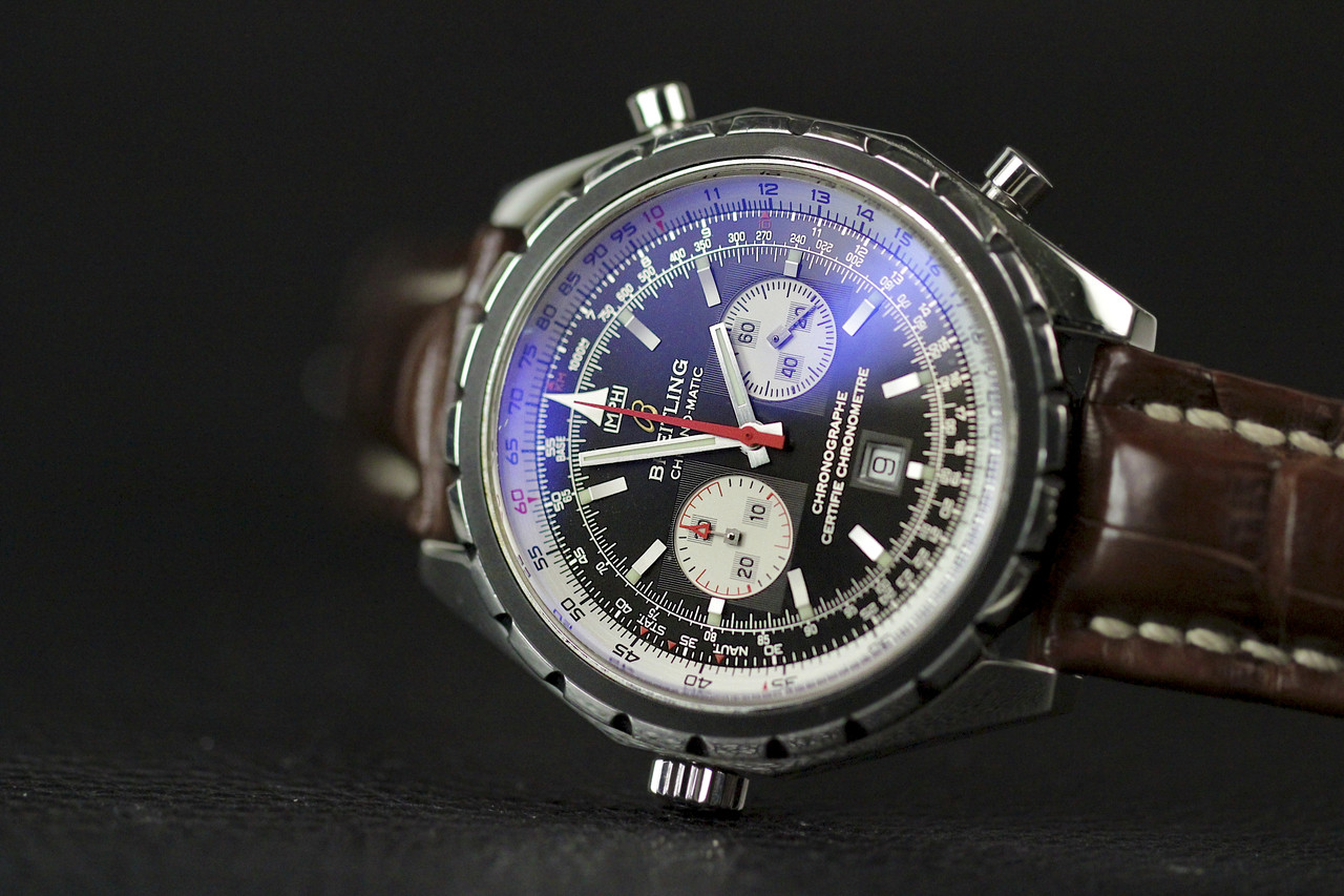 939c5b4b3 ... Dial Close-up - Breitling Watch - Chrono-Matic Chronograph A41360 ...