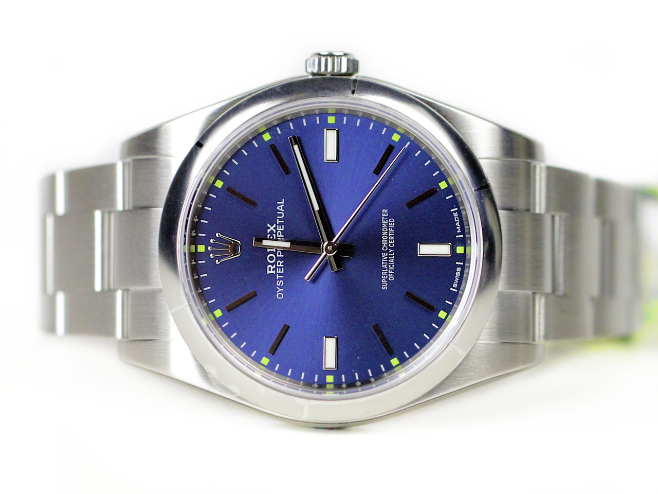 Rolex Watch - Oyster Perpetual 39 Blue 114300 - New for sale online www.Legendoftime.com and in store Legend of Time - Chicago Watch Center