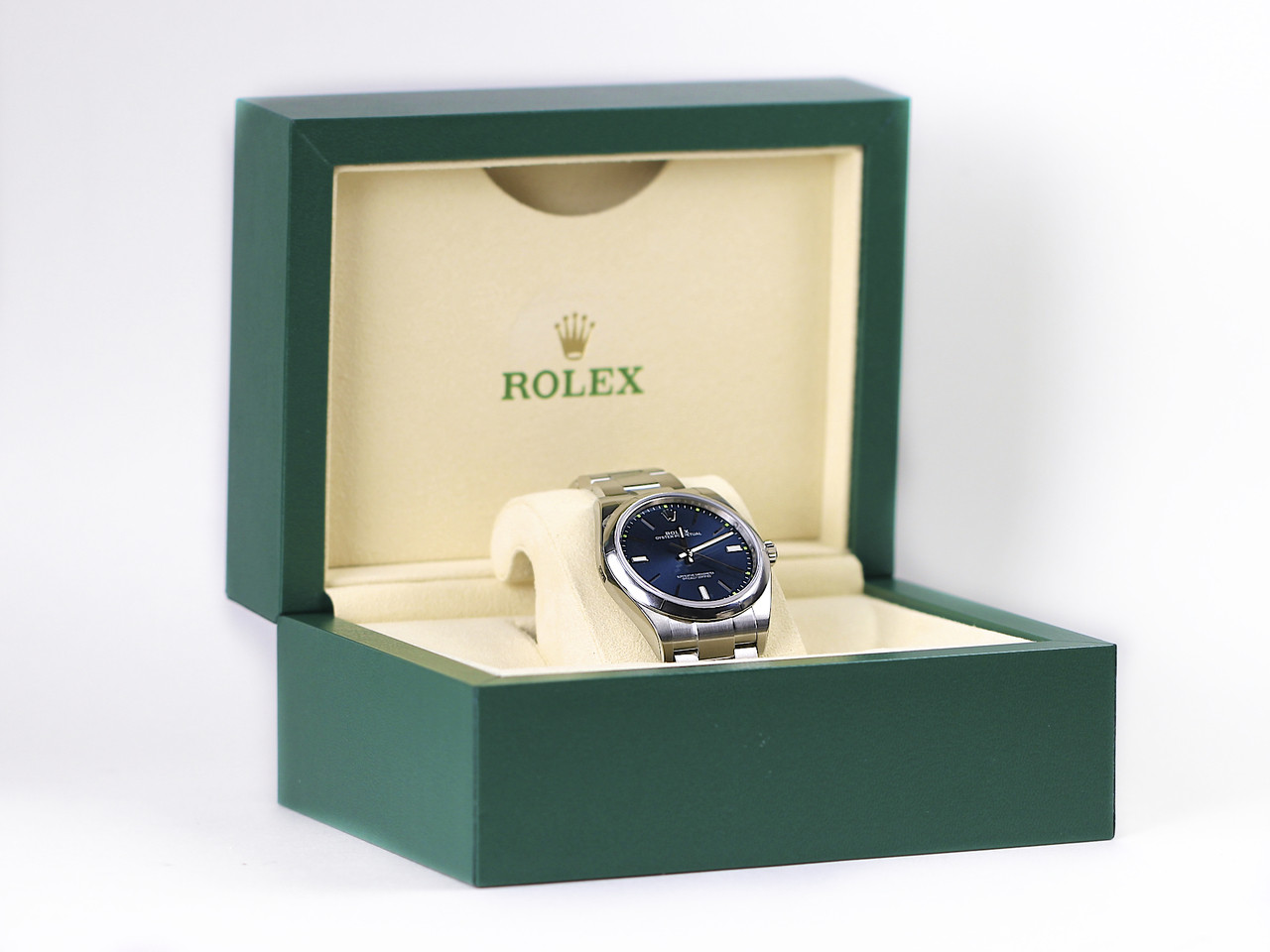 New and Complete - Rolex Watch - Oyster Perpetual 39 Blue 114300 - New for sale online www.Legendoftime.com and in store Legend of Time - Chicago Watch Center