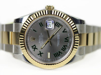 Rolex Watch - Datejust II 116333 Slate Dial Roman Numerals new for sale available in store Legend of Time - Chicago Watch Center