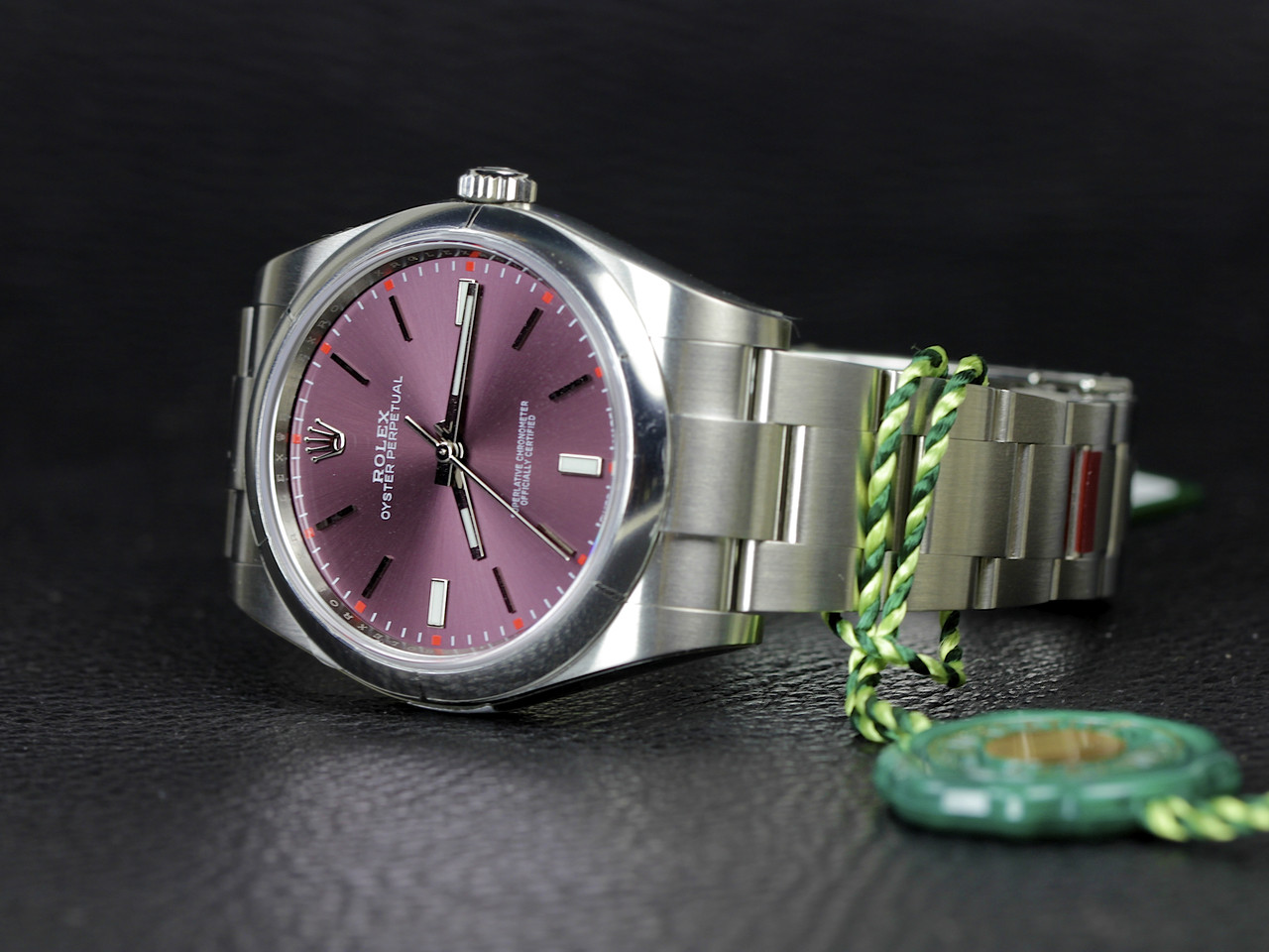 New Rolex Watch Oyster Perpetual 39 Red Grape 114300 available for order from Legend of Time Chicago Watch Center