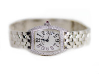 For sale pre-owned Franck Muller Watch - Cintree Curvex 2500QZD White Gold & Diamonds available online and in store Legend of Time - Chicago Watch Center