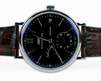 For sale New IWC Watch - Portofino Hand Wound Eight Days IW510102 - available online www.Legendoftime.com and in store Chicago Watch Center.  Classic Mens timepiece.