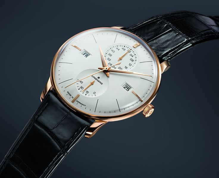 For sale New Junghans Watch Meister Agenda Rose Gold PVD with Matte-Silver Dial Day Date Week 027/7366.01, available online www.Legendoftime.com and in store Chicago Watch Center - Legend of Time