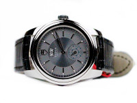Tudor Watch Glamour Automatic Anthracite Grey Dial Leather Strap 57000