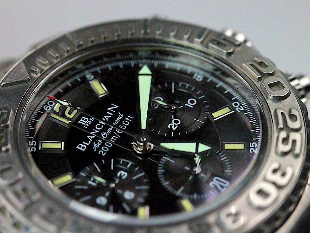 For sale used stainless steel Blancpain Watch Air Command Flyback Chronograph reference number 2285f-1130-71 Available in store Legend of Time Chicago Watch Center and online www.Legendoftime.com