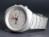 For sale Vintage Rare Heuer Watch 1980 Lemania 5100 Pewter 510-503, available in store Chicago Watch Center and online www.Legendoftime.com