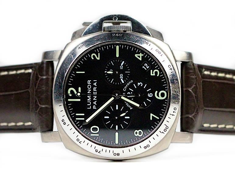panerai watch luminor titanium pam 0074 chronograph zenith movement