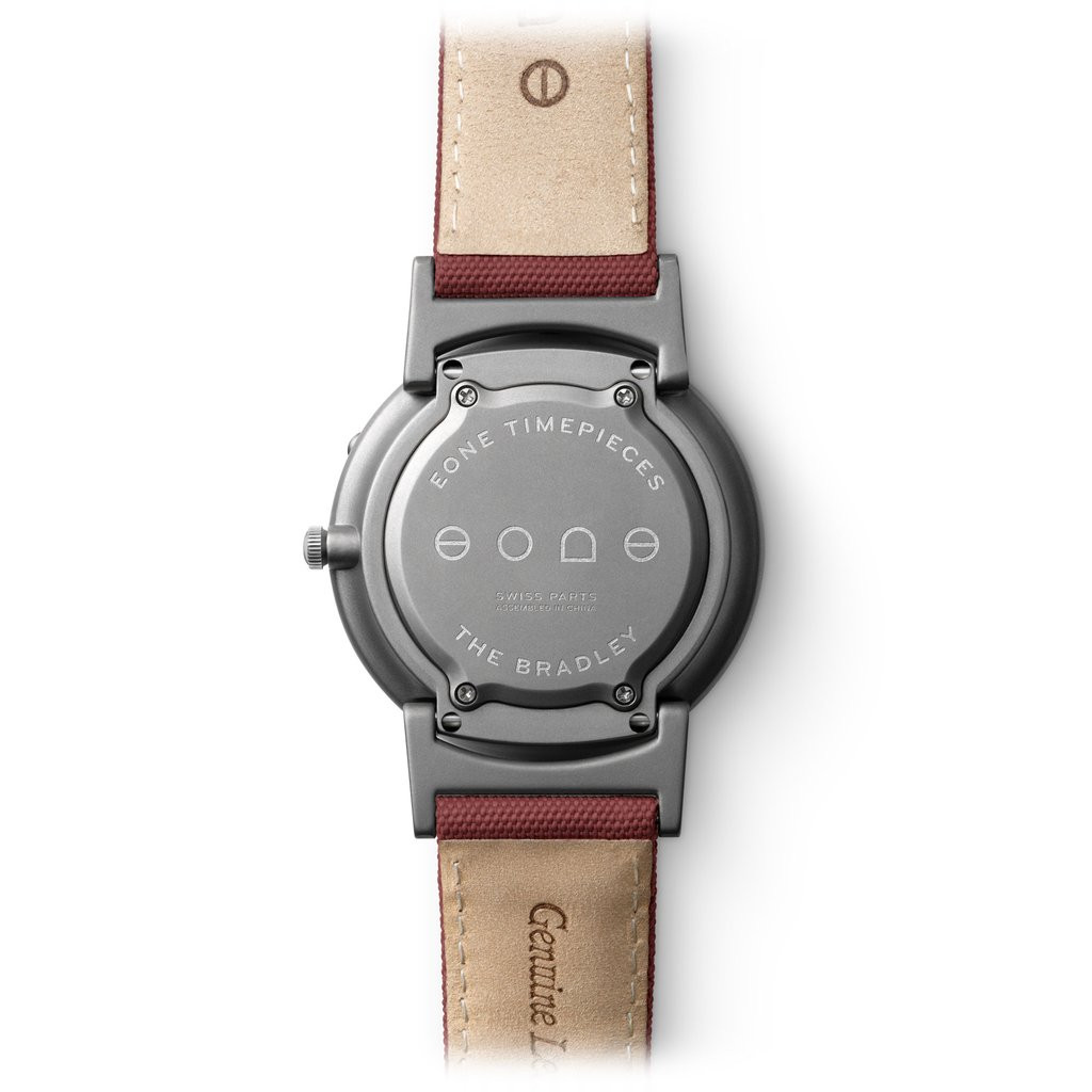 For sale online and in store in Chicago EONE Watch Bradley Canvas Crimson Titanium Quartz (BR-C-RED)