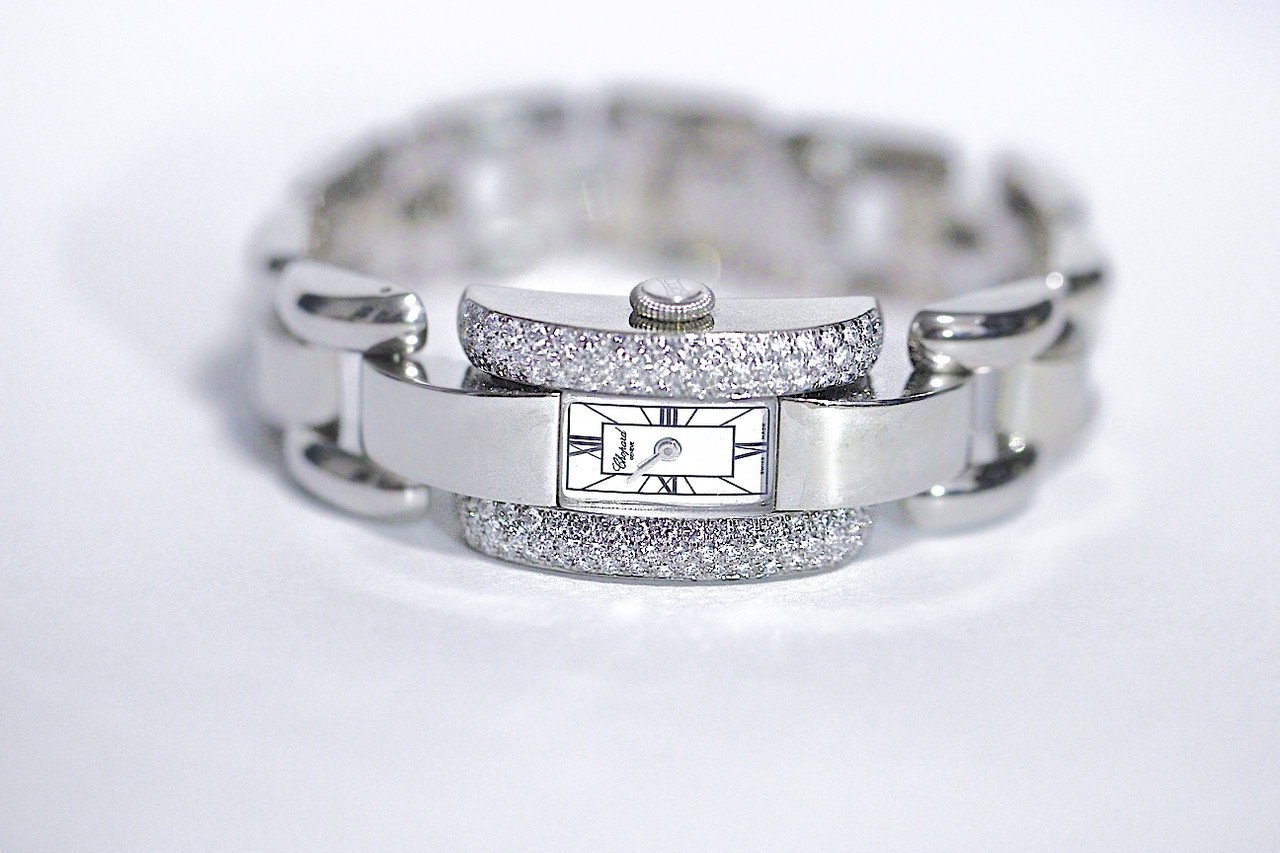 Chopard Watch - La Strada Diamond Bezel 18k White Gold Ladies - for sale luxury Swiss timepiece