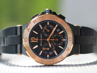 For sale used luxury watch Bulgari Watch - Diagono Chronograph 42mm Mens Rose Gold Steel (dgp42bgcvdch) available for sale online and in store Chicago Watch Center- Legend of Time