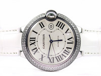 Cartier Watch - Ballon Bleu White Gold with Diamonds Large