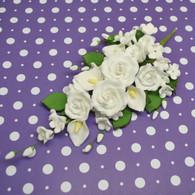 """6"""" Tea Rose & Calla Lily Spray"""