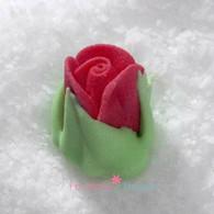 "1/2"" Royal Icing Rosebud - Medium - Red (quantity 10)"