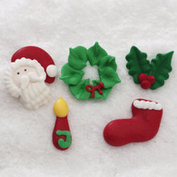 Royal Icing Christmas Assortment (15 per box)