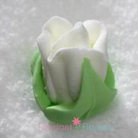 "1/2"" Royal Icing Rosebud - Medium - White (quantity 10)"