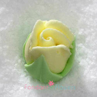 "1/2"" Royal Icing Rosebud - Medium - Yellow (quantity 10)"
