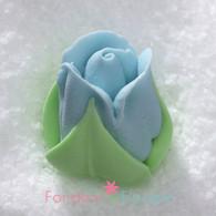 "1/2"" Royal Icing Rosebud - Medium - Pastel Blue (quantity 10)"