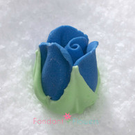 "1/2"" Royal Icing Rosebud - Medium - Royal Blue (quantity 10)"