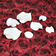 Assorted Rose Petals - White (15 per Box)