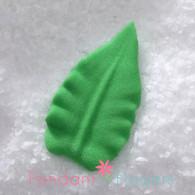 "1-3/16"" Royal Icing Rose Leaves - Medium - Green (24 per box)"