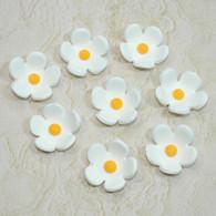 """1"""" Blossoms - Small - White (25 per box)"""