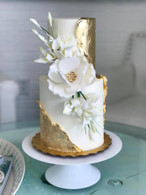 """3.5"""" Magnolia - White with Gold Center (Sold Individually)"""