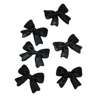"Bows- 1.5"" - Black (12 per box)"