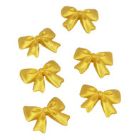 "Bows- 1.5"" - Gold (12 per box)"