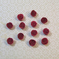 ".5"" Mini Classic Royal Icing Rose - Burgundy (10 per box)"