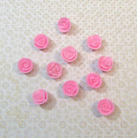 ".5"" Mini Classic Royal Icing Rose - Pastel Pink (40 per box)"