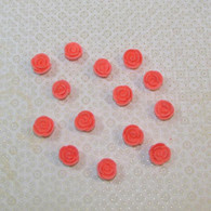 ".5"" Mini Classic Royal Icing Rose - Coral (10 per box)"