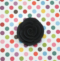 "1"" Small Classic Royal Icing Rose - Black (10 per box)"