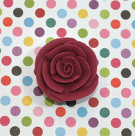 "1"" Small Classic Royal Icing Rose - Burgundy (10 per box)"