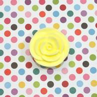 "1"" Small Classic Royal Icing Rose -  Pastel Yellow (10 per box)"