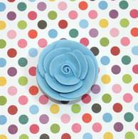 "1"" Small Classic Royal Icing Rose -  Pastel Blue (10 per box)"