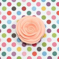 "1"" Small Classic Royal Icing Rose -  Peach (10 per box)"