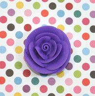 "1"" Small Classic Royal Icing Rose -  Purple (10 per box)"