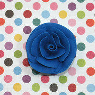 "1"" Small Classic Royal Icing Rose -  Royal Blue (10 per box)"