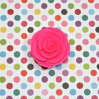 "1"" Small Classic Royal Icing Rose -  Hot Pink (10 per box)"