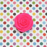 "1"" Small Classic Royal Icing Rose -  Hot Pink (10 per box)"