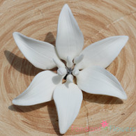 "3"" Medium Gumpaste Lilies - White  (3 per box)"