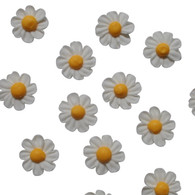 "1"" Royal Icing Daisy - Small - White (12 per box)"