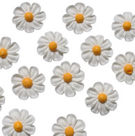 "1.5"" Royal Icing Daisy - Medium - White (12 per box)"