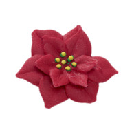 "1.5"" Royal Icing Poinsettia - Medium - Red (10 per box)"