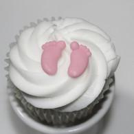 Royal Icing Baby Feet (24 PAIR per box) Pink