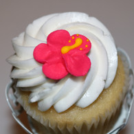 "1"" Royal Icing Hibiscus Flowers - Hot Pink (20 per box)"