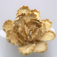 "4"" Garden Peony - Large - Gold (Sold Individually)"